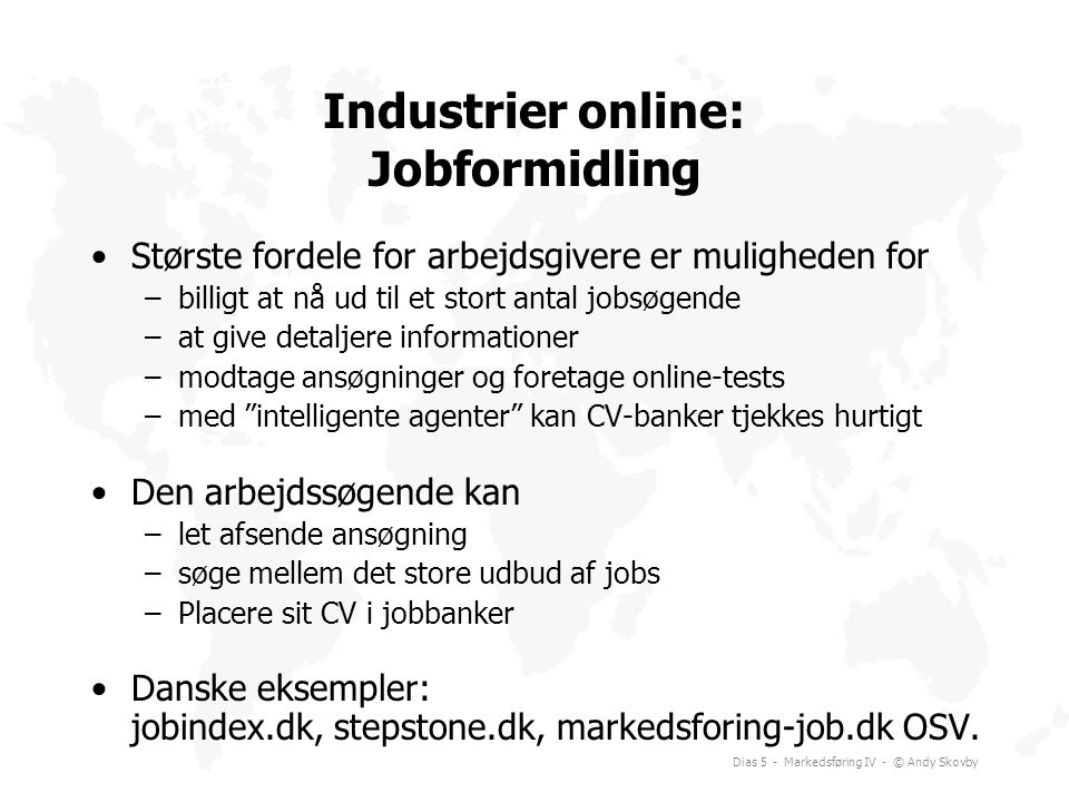 Industrier online: Jobformidling
