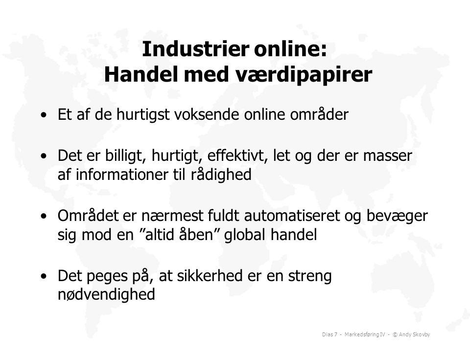 Industrier online: Handel med værdipapirer