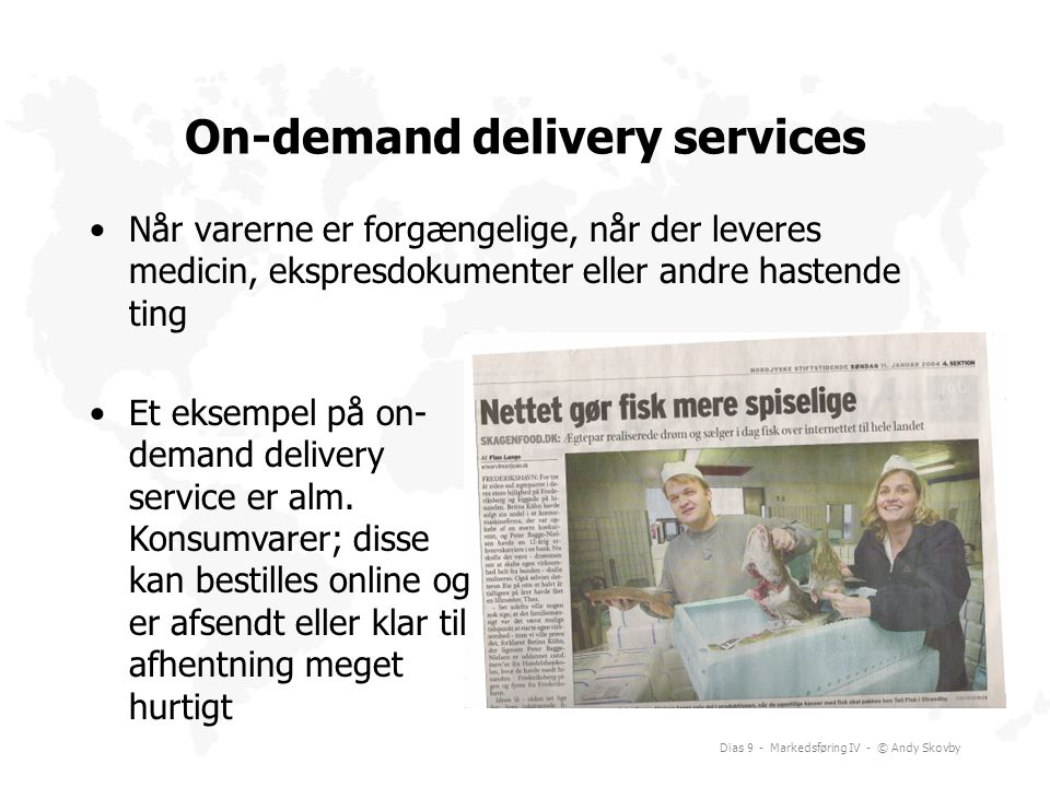 On-demand delivery services