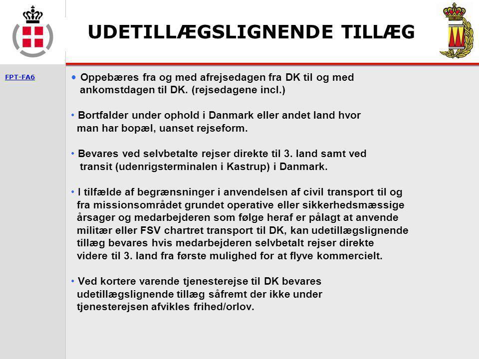 UDETILLÆGSLIGNENDE TILLÆG