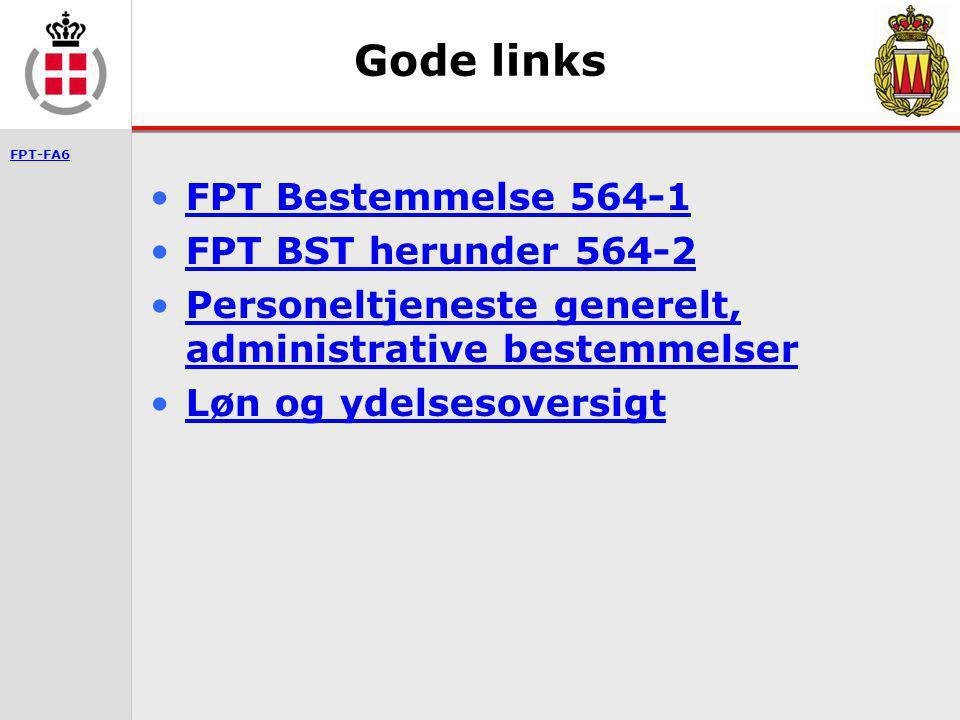 Gode links FPT Bestemmelse 564-1 FPT BST herunder 564-2