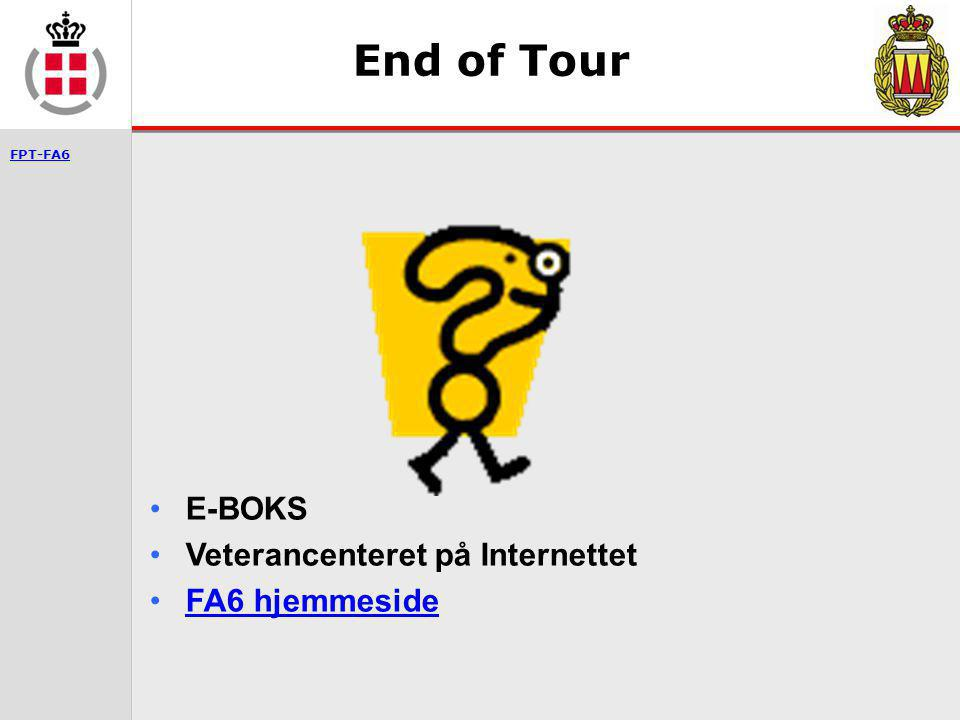 End of Tour E-BOKS Veterancenteret på Internettet FA6 hjemmeside
