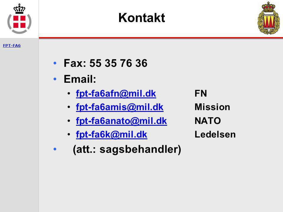 Kontakt Fax: 55 35 76 36 Email: (att.: sagsbehandler)