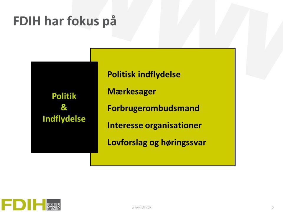 FDIH har fokus på Politisk indflydelse Mærkesager Forbrugerombudsmand