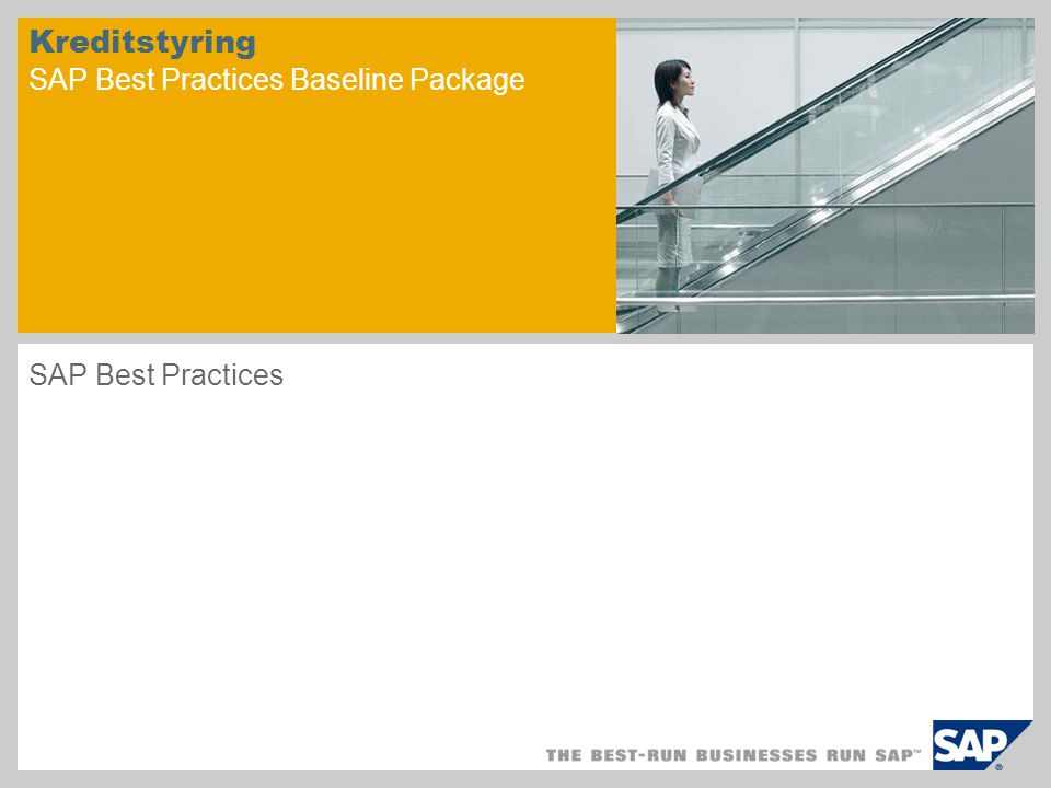 Kreditstyring SAP Best Practices Baseline Package