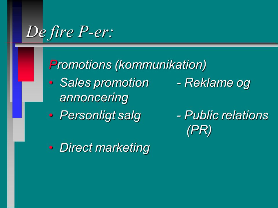 De fire P-er: Promotions (kommunikation)