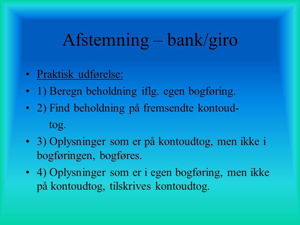 Afstemning – bank/giro