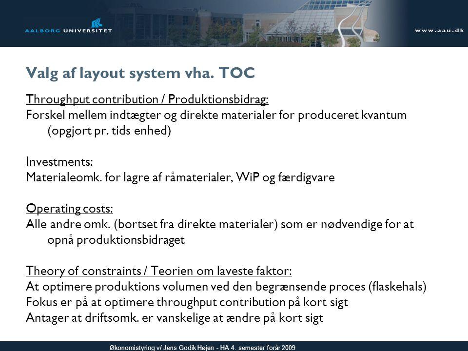 Valg af layout system vha. TOC