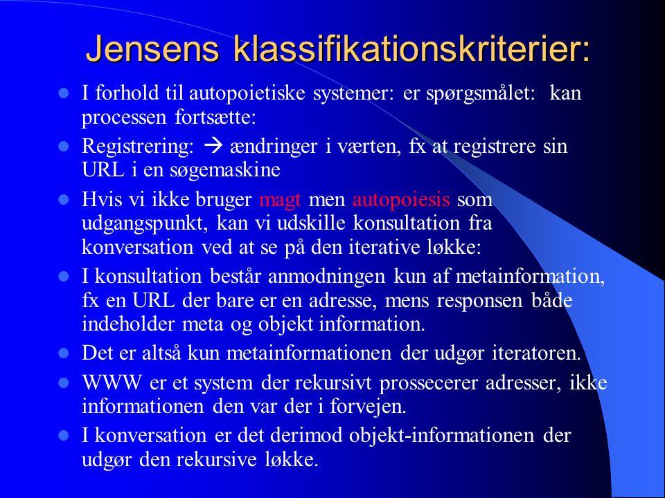 Jensens klassifikationskriterier: