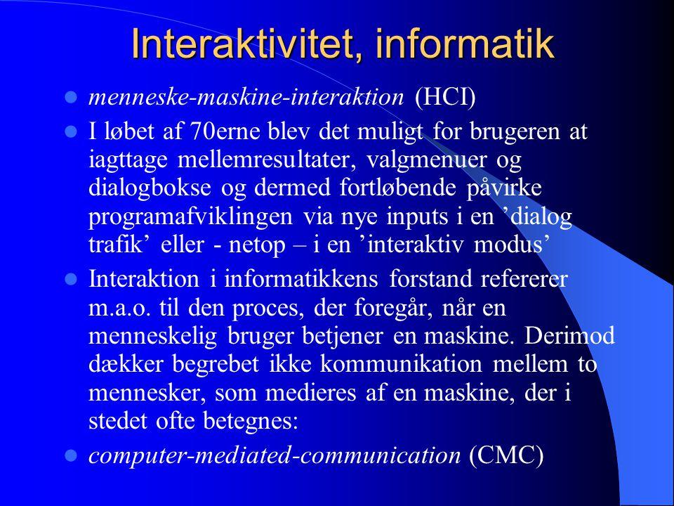 Interaktivitet, informatik