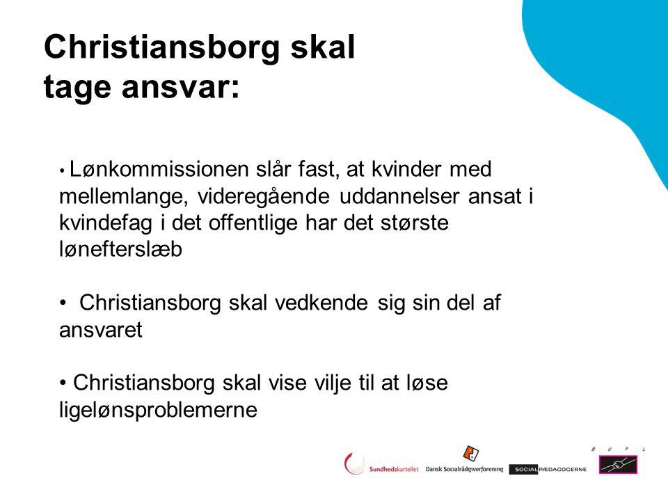 Christiansborg skal tage ansvar: