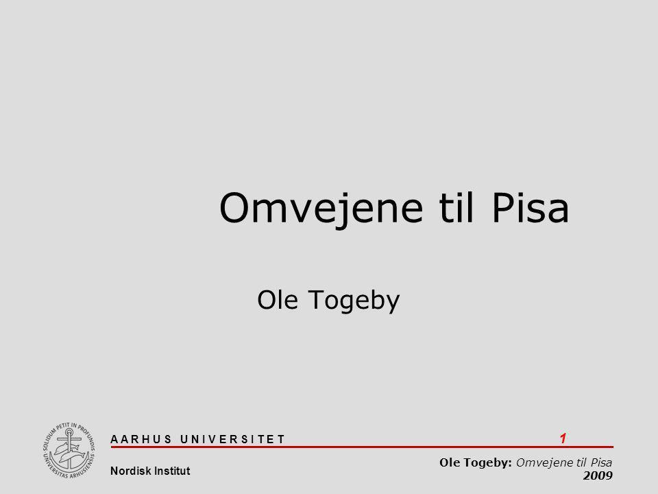 Omvejene til Pisa Ole Togeby