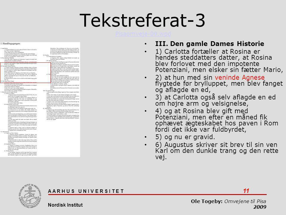 Tekstreferat-3 Pisaomveje-09.wpd