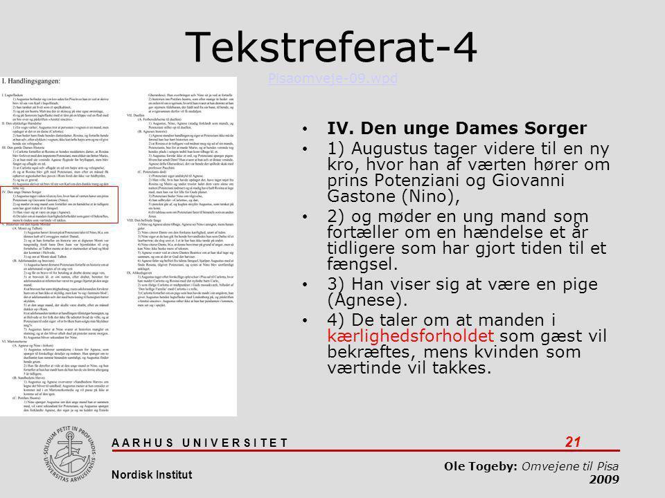 Tekstreferat-4 Pisaomveje-09.wpd