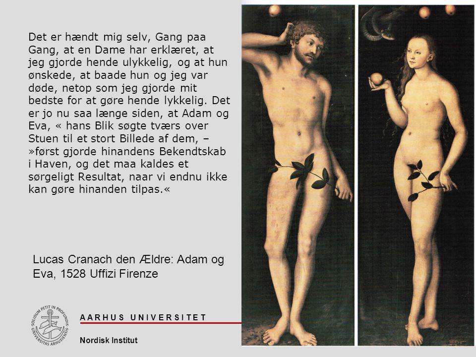 Lucas Cranach den Ældre: Adam og Eva, 1528 Uffizi Firenze