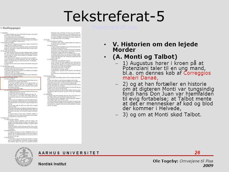 Tekstreferat-5 Pisaomveje-09.wpd