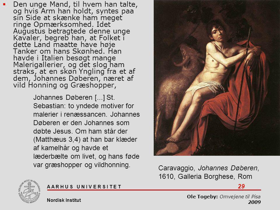 Caravaggio, Johannes Døberen, 1610, Galleria Borghese, Rom