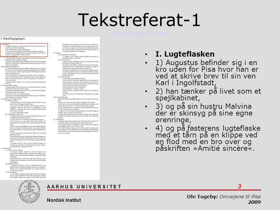 Tekstreferat-1 Pisaomveje-09.wpd