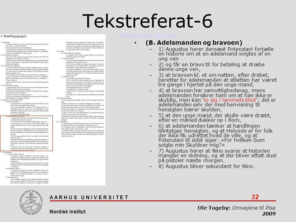 Tekstreferat-6 Pisaomveje-09.wpd