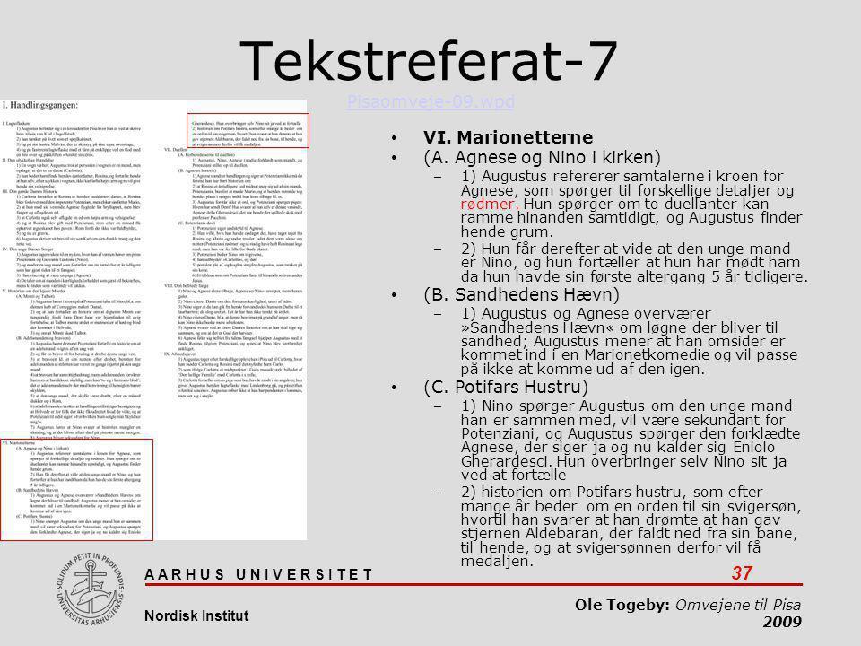 Tekstreferat-7 Pisaomveje-09.wpd