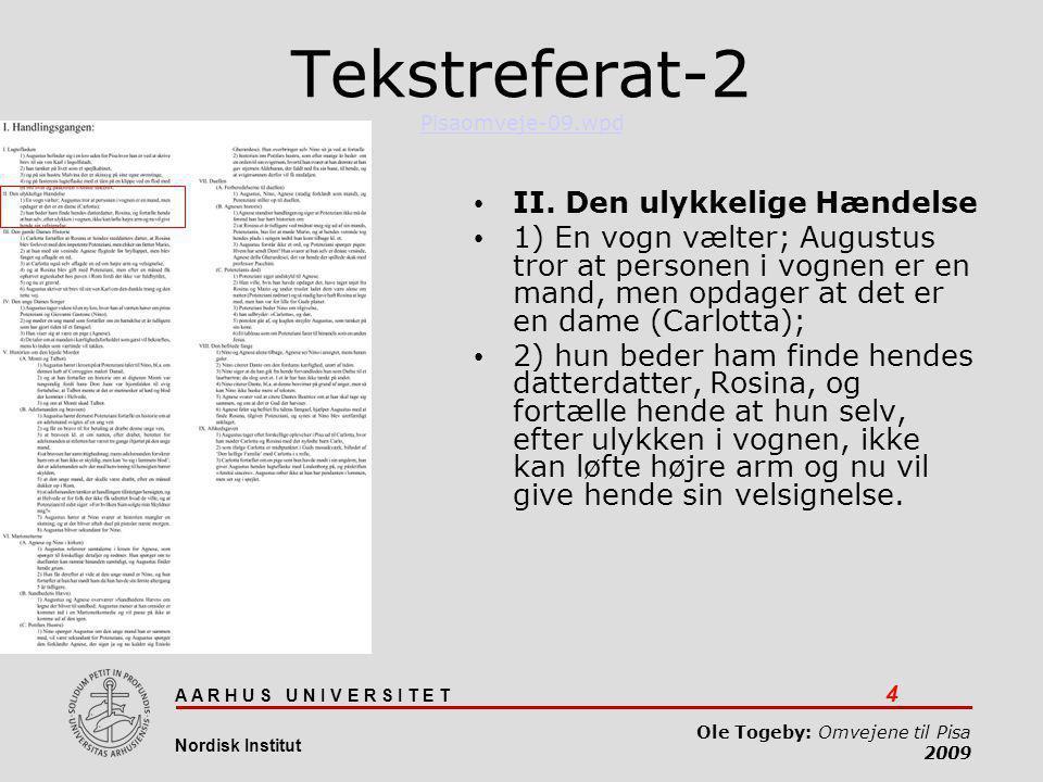 Tekstreferat-2 Pisaomveje-09.wpd