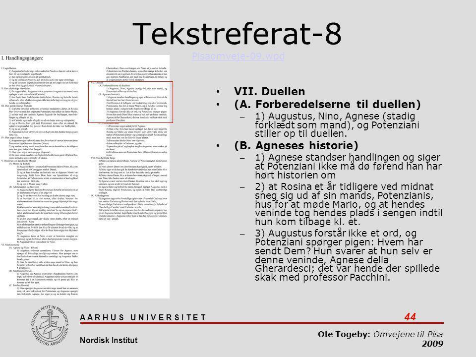 Tekstreferat-8 Pisaomveje-09.wpd