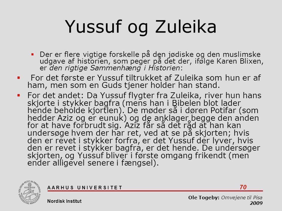 Yussuf og Zuleika