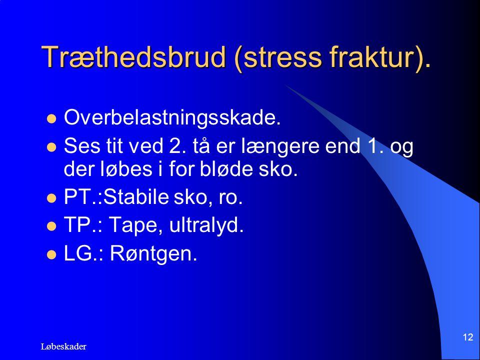 Træthedsbrud (stress fraktur).