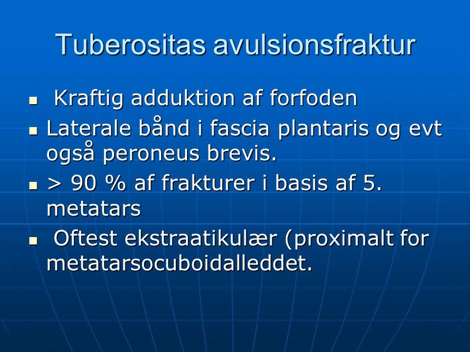 Tuberositas avulsionsfraktur
