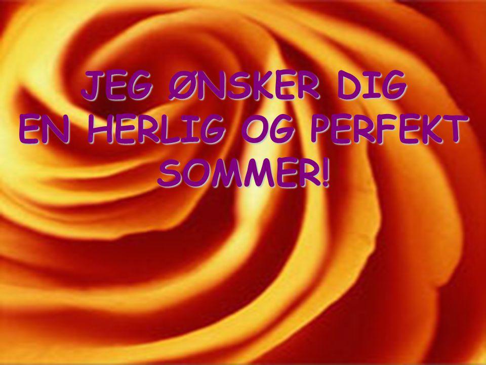 JEG ØNSKER DIG EN HERLIG OG PERFEKT SOMMER!