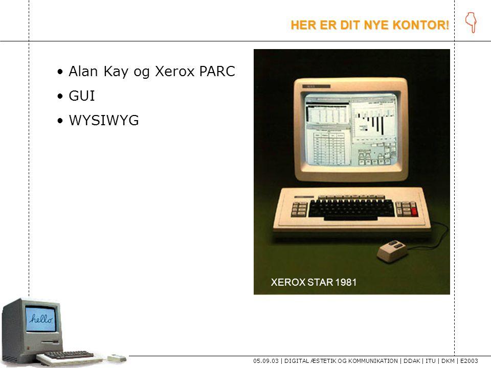 K Alan Kay og Xerox PARC GUI WYSIWYG HER ER DIT NYE KONTOR!