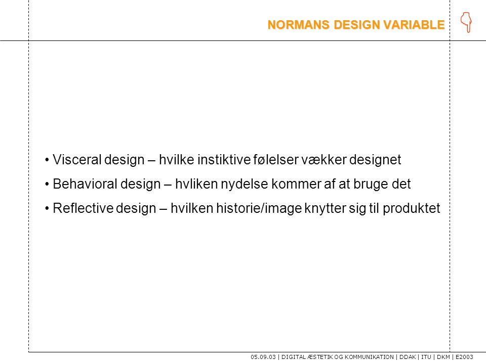 NORMANS DESIGN VARIABLE