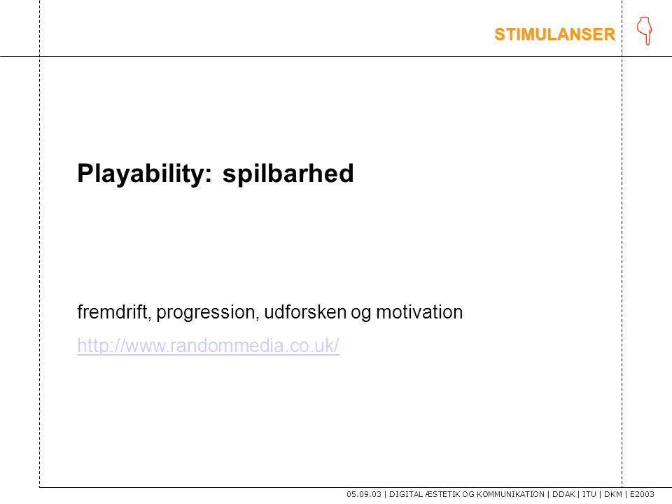 K Playability: spilbarhed