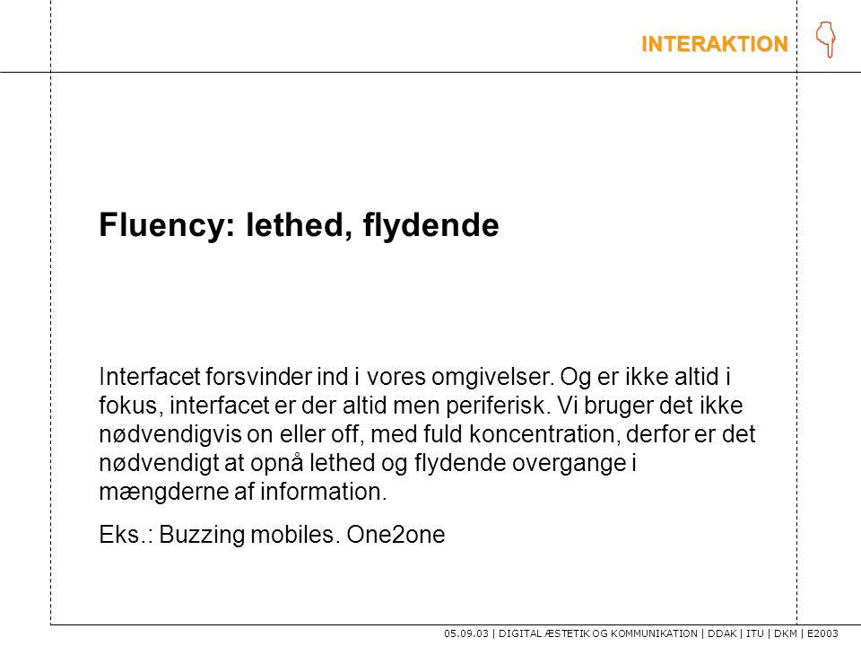 K Fluency: lethed, flydende