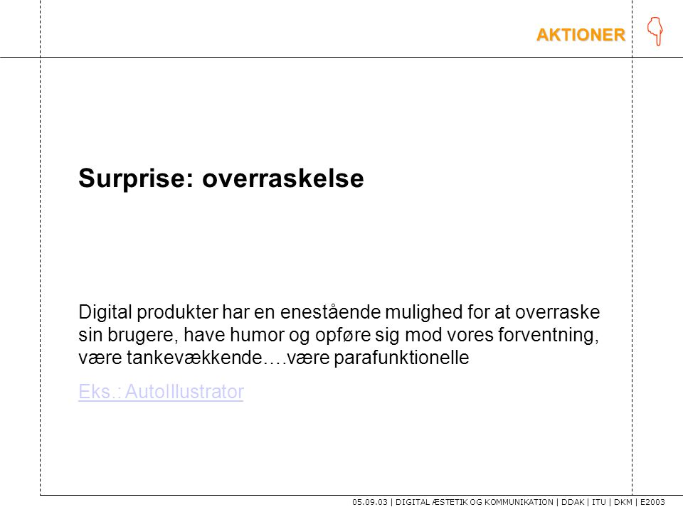 K Surprise: overraskelse
