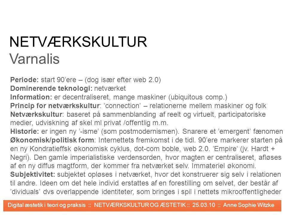 NETVÆRKSKULTUR Varnalis