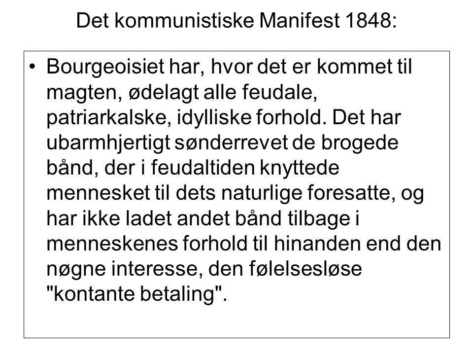 Det kommunistiske Manifest 1848: