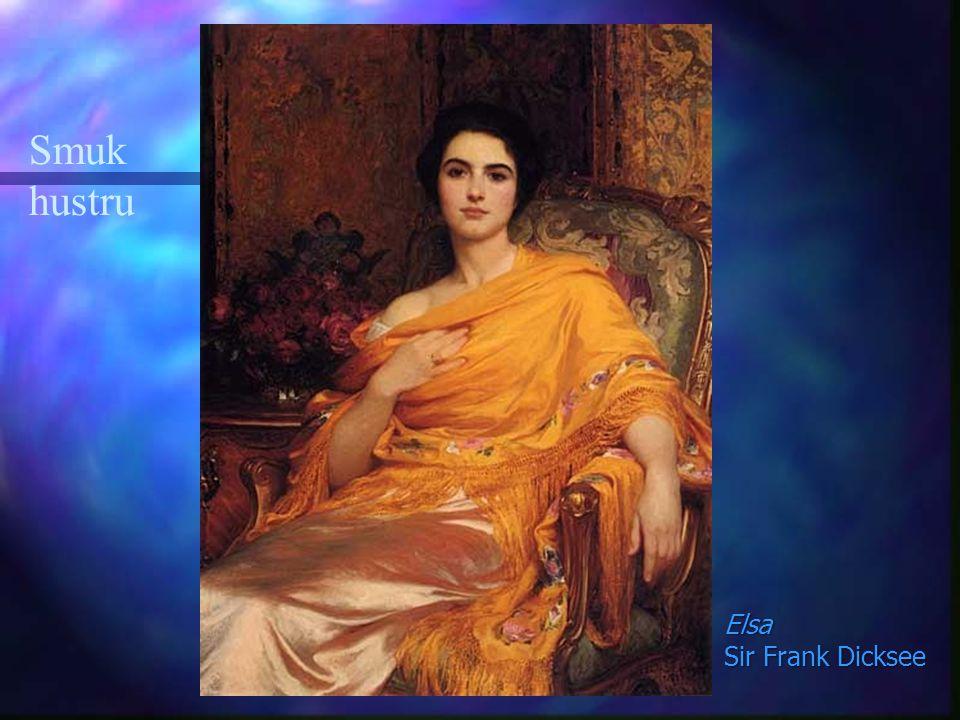 Smuk hustru Elsa Sir Frank Dicksee