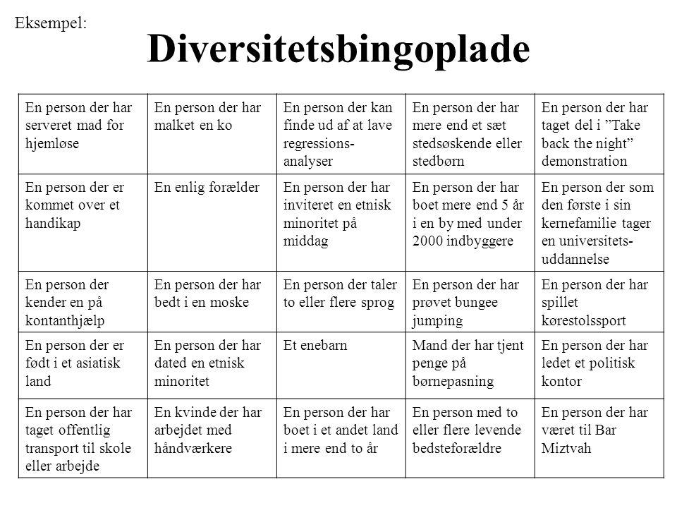 Diversitetsbingoplade