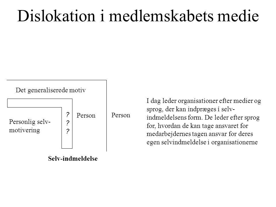 Dislokation i medlemskabets medie