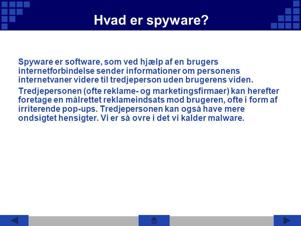 Hvad er spyware