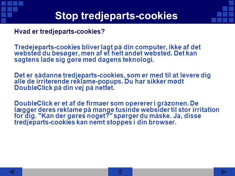 Stop tredjeparts-cookies