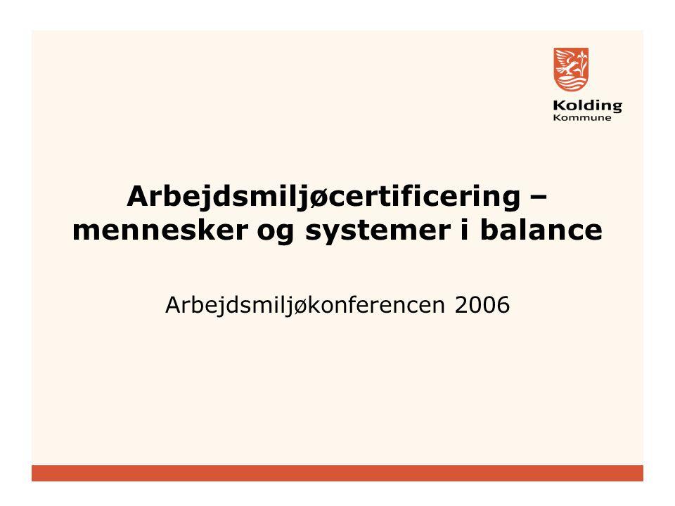 Arbejdsmiljøcertificering – mennesker og systemer i balance