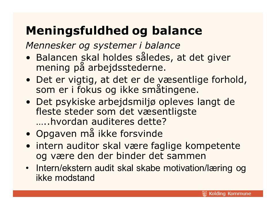 Meningsfuldhed og balance