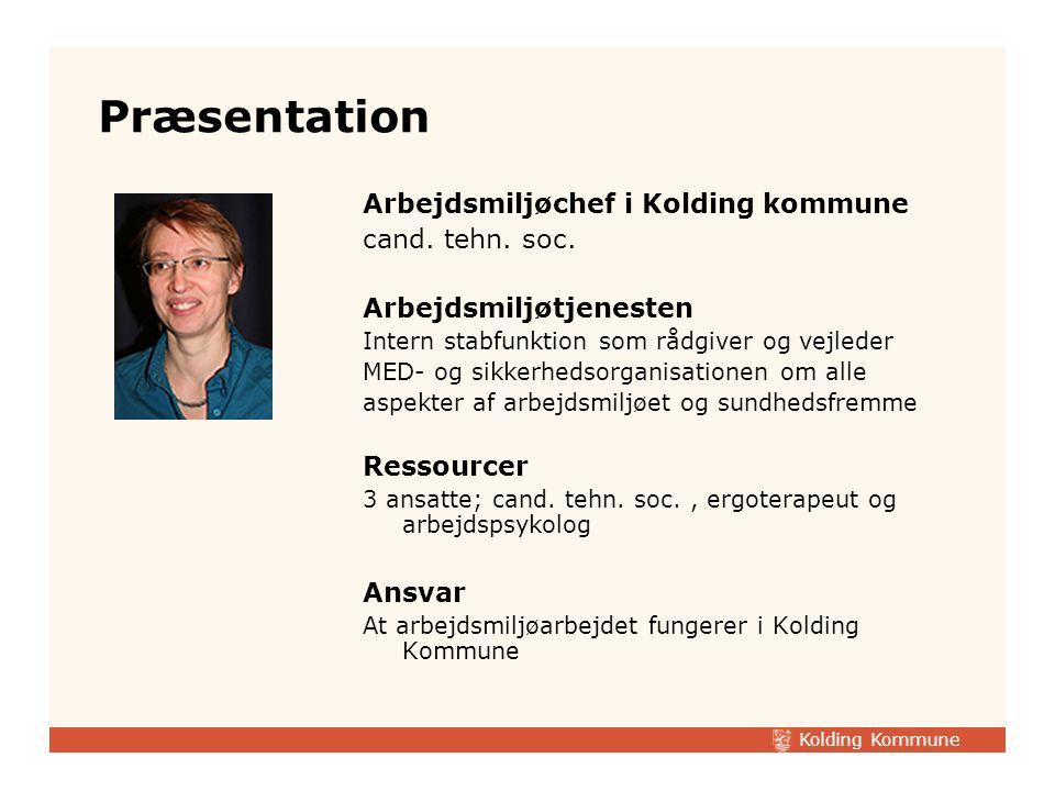 Præsentation Arbejdsmiljøchef i Kolding kommune cand. tehn. soc.