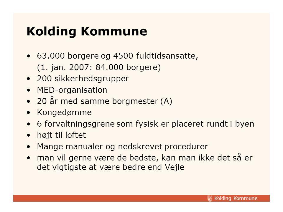 Kolding Kommune 63.000 borgere og 4500 fuldtidsansatte,