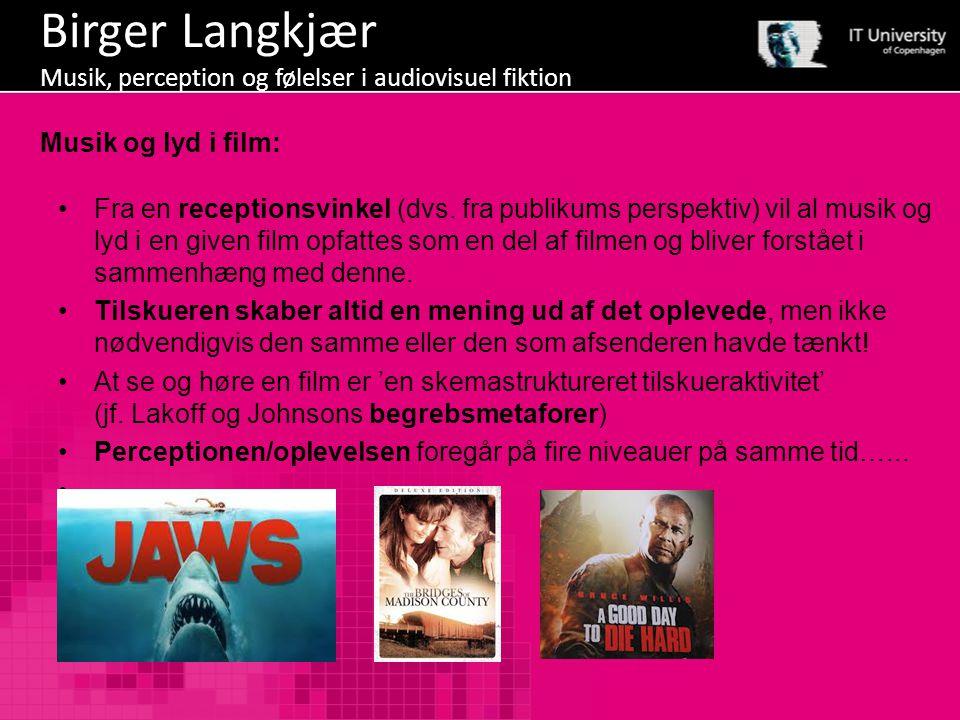 Birger Langkjær Musik, perception og følelser i audiovisuel fiktion