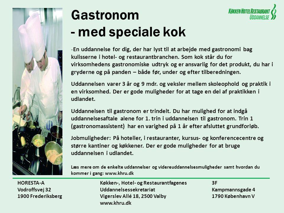 Gastronom - med speciale kok