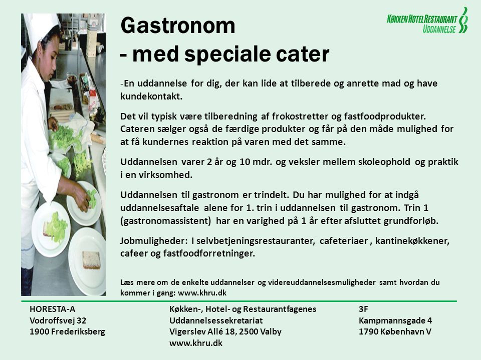 Gastronom - med speciale cater