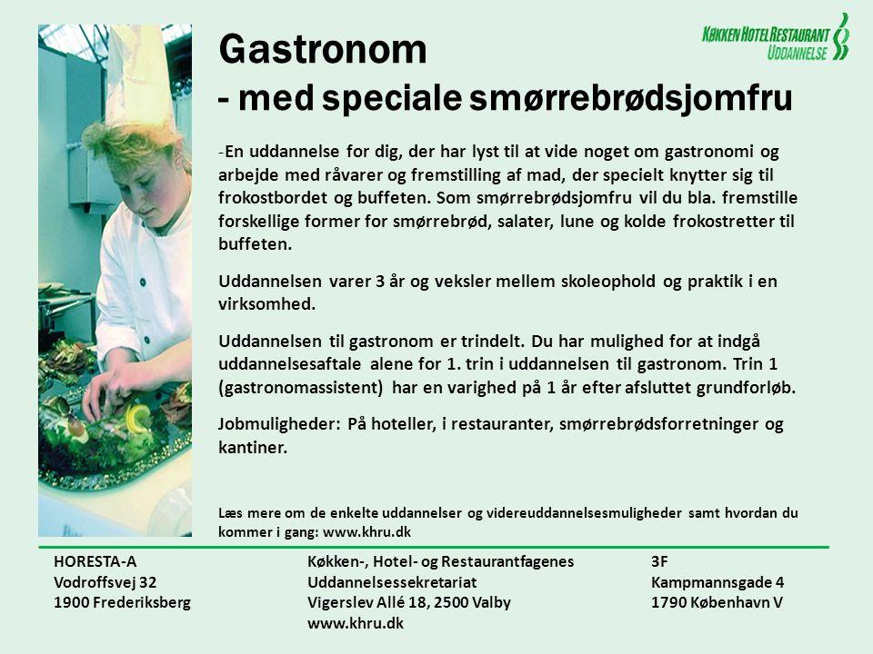 Gastronom - med speciale smørrebrødsjomfru